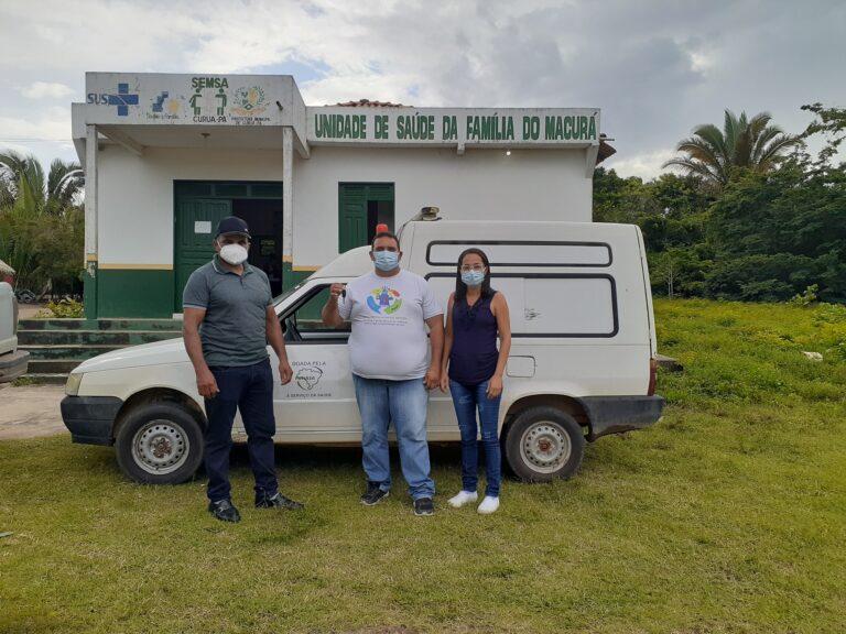 SEMSA e Vice-Prefeito realizam a devolução da Ambulância à Comunidade Macurá