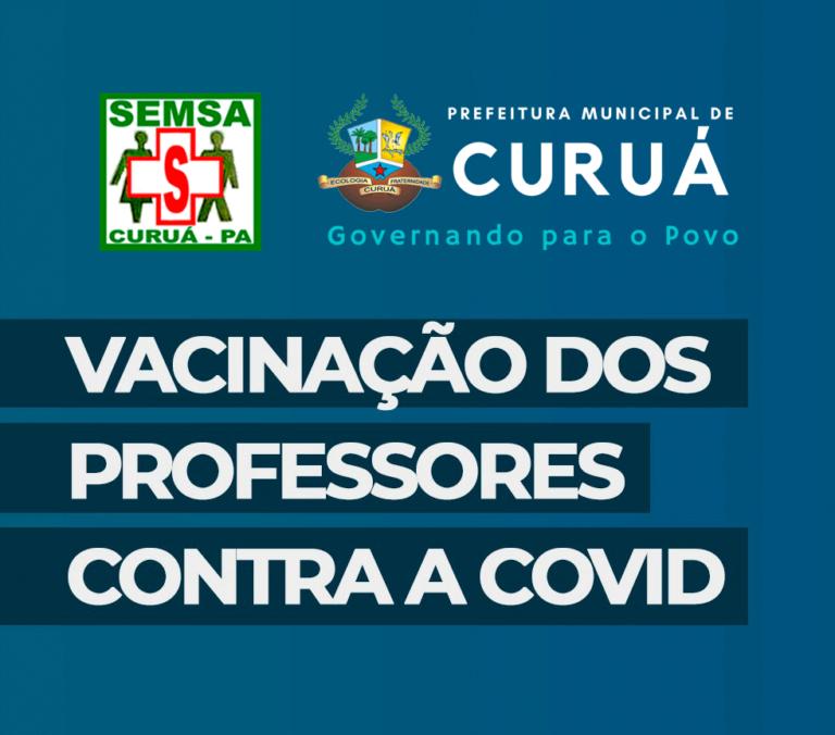 ATENÇÃO: Dia 26 de maio inicia a vacinação dos Profissionais da educação