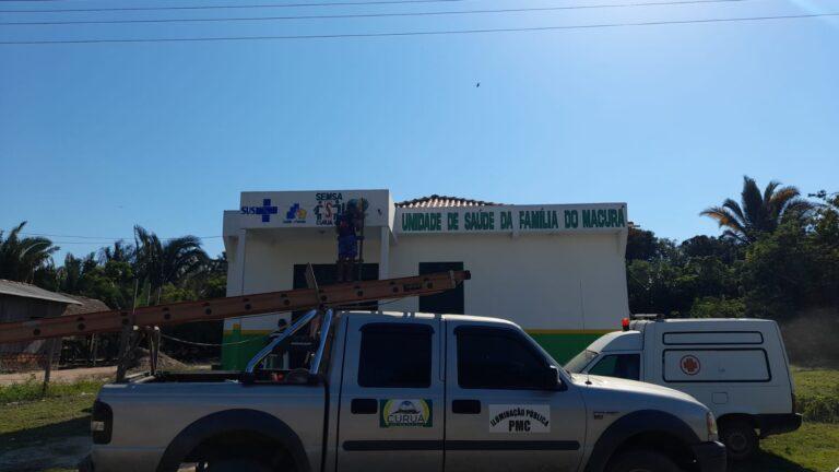 Reformas no prédio da Unidade de Saúde da Família da Comunidade Macurá